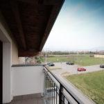 balcone con vista dal sottotetto